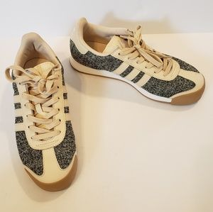 Adidas | Samoa textured linen and gum rubber sole